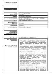 CV - IZS della Lombardia e dell'Emilia Romagna