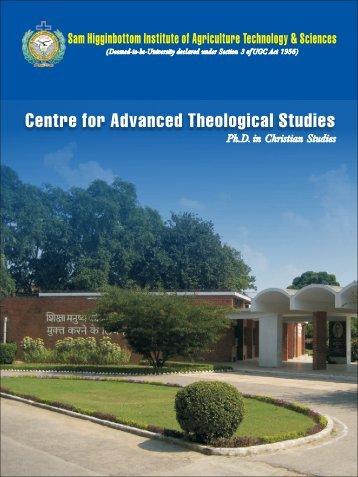 Information Brochure Ph.D Christian Studies - Shiats.edu.in