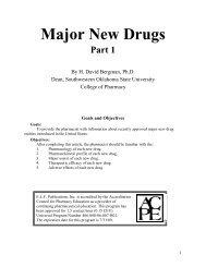 Major New Drugs - Community Pharmacist :. Continuing Pharmacy ...
