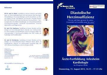 Ärztefortbildung Arlesheim - Diastolische Herzinsuffizienz