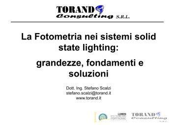 La Fotometria nei sistemi solid state lighting ... - Tecnoimprese