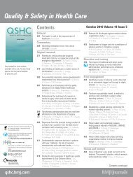 Table of contents PDF - BMJ Quality and Safety