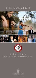 The Concerts - 200th Concert Brochure... - Beales Hotels