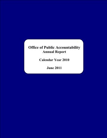 2010 - The Office of Public Accountability