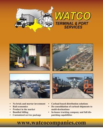 to see brochure. - Watco Companies