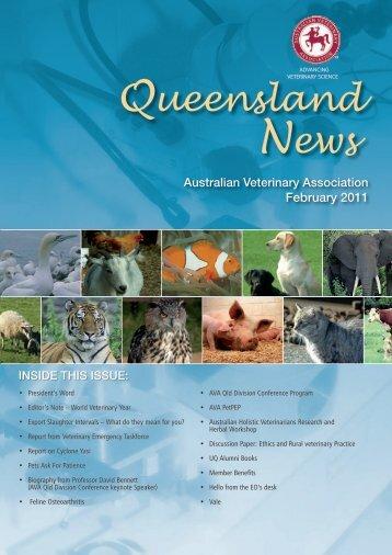 Ueensland Ews - Australian Veterinary Association