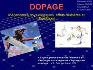 Dopage - STAPS AVIGNON