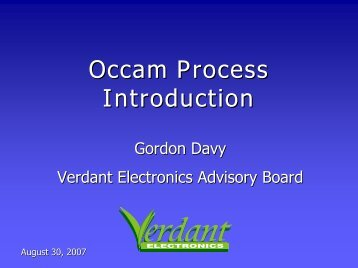 Occam Process Introduction - SMTA