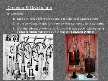 Dimming & Distribution