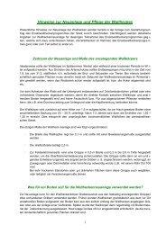 Hinweise zur Neuanlage und Pflege der Wallhecken - Stadt Aurich