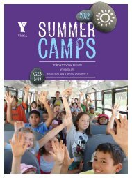 camps - YMCA of Greater Toronto