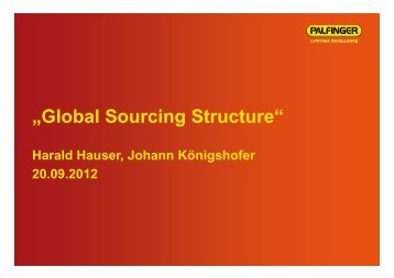 """Global Sourcing Structure"" - PALFINGER"