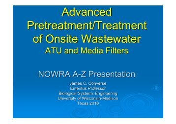 Advanced Pretreatment/Treatment of Onsite Wastewater ATU and ...