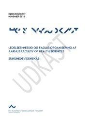 Forslag til faglig organisering af Aarhus Faculty of Health Sciences ...