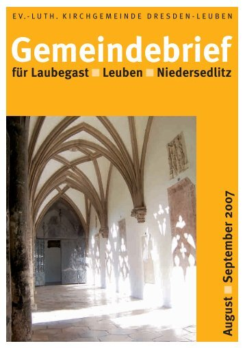 Gemeindebrief August/September 2007 - Ev.