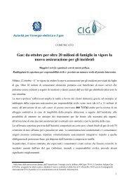 Gas: da ottobre per oltre 20 milioni di famiglie in vigore la nuova ...