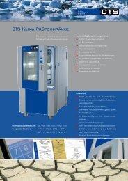 CTS-Klima-Prüfschränke - CTS GmbH