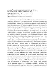 AVALIAÇÃO DA APRENDIZAGEM NO ENSINO SUPERIOR ... - estef