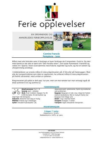 Sykkeltur Pamplona til Leon 2013.pdf - Vidy Reiser