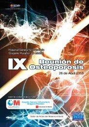 IX Reunión de Osteoporosis - Sociedad Española de Medicina Interna