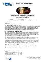 Silvester mit Mozart in Strasbourg - Heggli AG