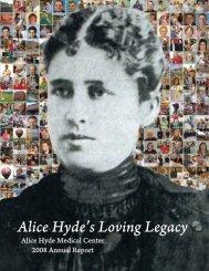 2008 Annual Report - Alice Hyde Medical Center