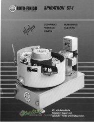 Roto Finish Spiratron ST1 Brochure - Sterling Machinery