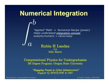 Numerical Integration - Physics at Oregon State University