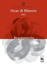 Regolamento Oscar di bilancio 2012 - Nedcommunity