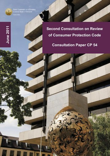 Second Consultation on Review of Consumer Protection Code ...