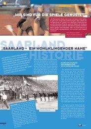 """""""SAARLAND – EIN WOHLKLINGENDER NAME"""" """"WIR SIND FÜR ..."""