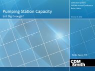 Pumping Station Capacity - pncwa