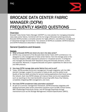 brocade vdx data center switches frequently asked questions