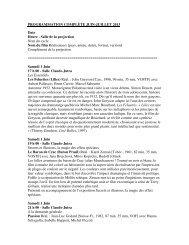 PROGRAMMATION COMPLÈTE JUIN-JUILLET 2013 Date Heure ...
