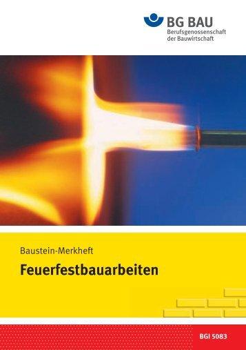 Feuerfest- bauarbeiten - Arbeitssicherheit.de