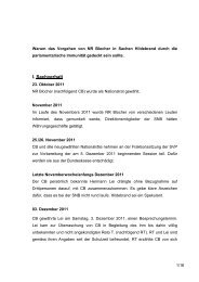 I. Sachverhalt - Christoph Blocher