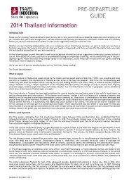 PRE-DEPARTURE GUIDE 2013 Thailand information - Travel ...