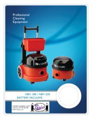 Battery Powered Canister Vacuums - Parish Maintenance Supply