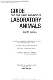Guide for the Care and Use of Laboratory Animals, NRC 2011