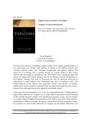 Targums: A Critical Introductions - Philosophy and Religion