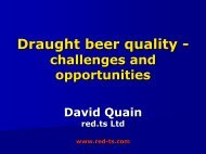 Draught beer quality - challenges and opportunities - Red-ts.com