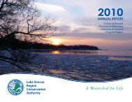 2010 Annual Report - Lake Simcoe Region Conservation Authority