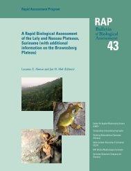 RAP Bulletin of Biological Assessment 43 Rapid ... - ATBC 2008