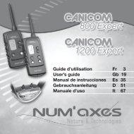 Guide d'utilisation Fr 3 User's guide Gb 19 Manual de ... - Num'Axes