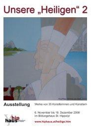 2008-5 Unsere Heiligen 2 Flyer (pdf) - Bildungshaus St. Hippolyt