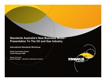 Standards Australia's New Business Model - OGP activities home