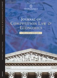 Front Matter (PDF) - Journal of Competition Law and Economics