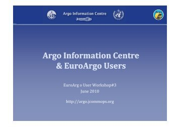 Argo Information Centre Information Centre & & EAEAU ... - Euro-Argo