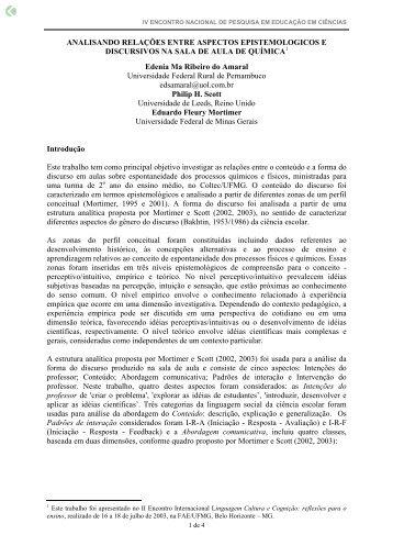 ANALISANDO RELAÇÕES ENTRE ASPECTOS ... - Axpfep1.if.usp.br