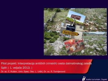 Interpretacija antičkih (rimskih) cesta Dalmatinskog zaleđa